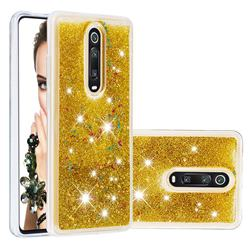 Dynamic Liquid Glitter Quicksand Sequins TPU Phone Case for Xiaomi Redmi K20 / K20 Pro - Golden
