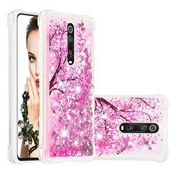 Pink Cherry Blossom Dynamic Liquid Glitter Sand Quicksand Star TPU Case for Xiaomi Redmi K20 / K20 Pro