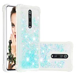 Dynamic Liquid Glitter Sand Quicksand TPU Case for Xiaomi Redmi K20 / K20 Pro - Silver Blue Star