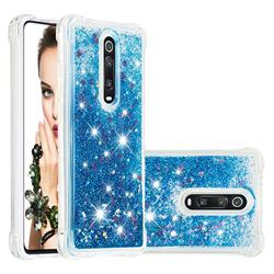 Dynamic Liquid Glitter Sand Quicksand TPU Case for Xiaomi Redmi K20 / K20 Pro - Blue Love Heart