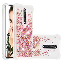 Dynamic Liquid Glitter Sand Quicksand TPU Case for Xiaomi Redmi K20 / K20 Pro - Rose Gold Love Heart