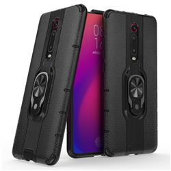 Alita Battle Angel Armor Metal Ring Grip Shockproof Dual Layer Rugged Hard Cover for Xiaomi Redmi K20 / K20 Pro - Black