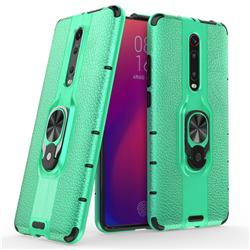 Alita Battle Angel Armor Metal Ring Grip Shockproof Dual Layer Rugged Hard Cover for Xiaomi Redmi K20 / K20 Pro - Green