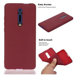 Soft Matte Silicone Phone Cover for Xiaomi Redmi K20 / K20 Pro - Wine Red