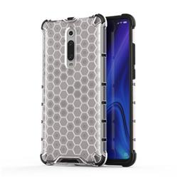 Honeycomb TPU + PC Hybrid Armor Shockproof Case Cover for Xiaomi Redmi K20 / K20 Pro - Transparent