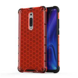 Honeycomb TPU + PC Hybrid Armor Shockproof Case Cover for Xiaomi Redmi K20 / K20 Pro - Red