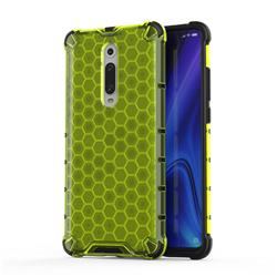 Honeycomb TPU + PC Hybrid Armor Shockproof Case Cover for Xiaomi Redmi K20 / K20 Pro - Green