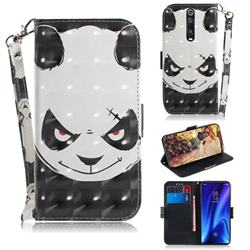Angry Bear 3D Painted Leather Wallet Phone Case for Xiaomi Redmi K20 / K20 Pro