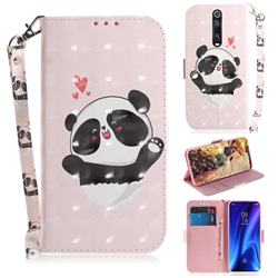 Heart Cat 3D Painted Leather Wallet Phone Case for Xiaomi Redmi K20 / K20 Pro