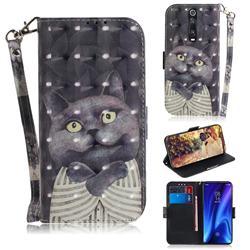 Cat Embrace 3D Painted Leather Wallet Phone Case for Xiaomi Redmi K20 / K20 Pro