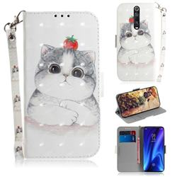Cute Tomato Cat 3D Painted Leather Wallet Phone Case for Xiaomi Redmi K20 / K20 Pro