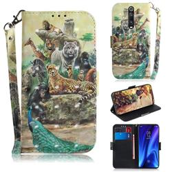 Beast Zoo 3D Painted Leather Wallet Phone Case for Xiaomi Redmi K20 / K20 Pro
