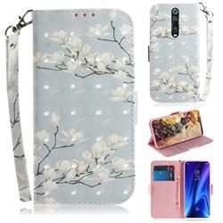 Magnolia Flower 3D Painted Leather Wallet Phone Case for Xiaomi Redmi K20 / K20 Pro