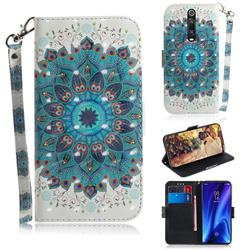 Peacock Mandala 3D Painted Leather Wallet Phone Case for Xiaomi Redmi K20 / K20 Pro