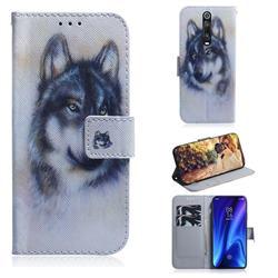 Snow Wolf PU Leather Wallet Case for Xiaomi Redmi K20 / K20 Pro