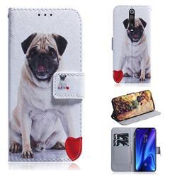 Pug Dog PU Leather Wallet Case for Xiaomi Redmi K20 / K20 Pro