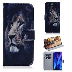 Lion Face PU Leather Wallet Case for Xiaomi Redmi K20 / K20 Pro