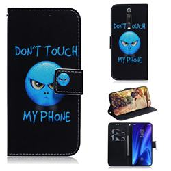 Not Touch My Phone PU Leather Wallet Case for Xiaomi Redmi K20 / K20 Pro