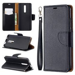 Classic Luxury Litchi Leather Phone Wallet Case for Xiaomi Redmi K20 / K20 Pro - Black