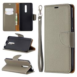 Classic Luxury Litchi Leather Phone Wallet Case for Xiaomi Redmi K20 / K20 Pro - Gray