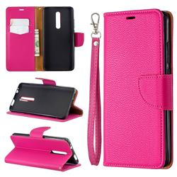 Classic Luxury Litchi Leather Phone Wallet Case for Xiaomi Redmi K20 / K20 Pro - Rose