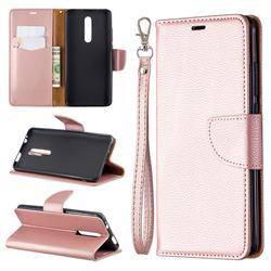 Classic Luxury Litchi Leather Phone Wallet Case for Xiaomi Redmi K20 / K20 Pro - Golden