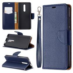Classic Luxury Litchi Leather Phone Wallet Case for Xiaomi Redmi K20 / K20 Pro - Blue