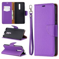 Classic Luxury Litchi Leather Phone Wallet Case for Xiaomi Redmi K20 / K20 Pro - Purple