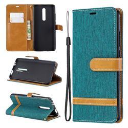 Jeans Cowboy Denim Leather Wallet Case for Xiaomi Redmi K20 / K20 Pro - Green