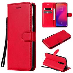 Retro Greek Classic Smooth PU Leather Wallet Phone Case for Xiaomi Redmi K20 / K20 Pro - Red