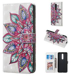 Mandara Flower 3D Painted Leather Phone Wallet Case for Xiaomi Redmi K20 / K20 Pro