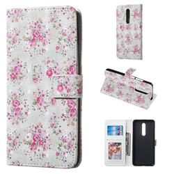 Roses Flower 3D Painted Leather Phone Wallet Case for Xiaomi Redmi K20 / K20 Pro