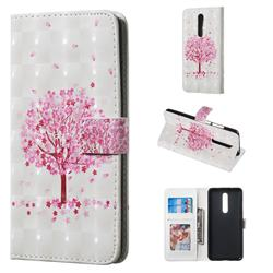 Sakura Flower Tree 3D Painted Leather Phone Wallet Case for Xiaomi Redmi K20 / K20 Pro