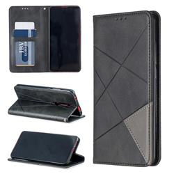 Prismatic Slim Magnetic Sucking Stitching Wallet Flip Cover for Xiaomi Redmi K20 / K20 Pro - Black