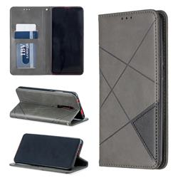 Prismatic Slim Magnetic Sucking Stitching Wallet Flip Cover for Xiaomi Redmi K20 / K20 Pro - Gray