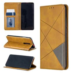 Prismatic Slim Magnetic Sucking Stitching Wallet Flip Cover for Xiaomi Redmi K20 / K20 Pro - Yellow