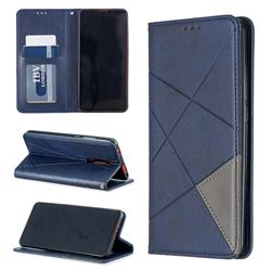 Prismatic Slim Magnetic Sucking Stitching Wallet Flip Cover for Xiaomi Redmi K20 / K20 Pro - Blue