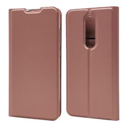 Ultra Slim Card Magnetic Automatic Suction Leather Wallet Case for Xiaomi Redmi K20 / K20 Pro - Rose Gold