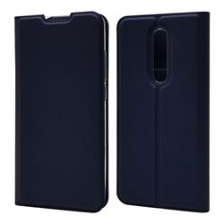 Ultra Slim Card Magnetic Automatic Suction Leather Wallet Case for Xiaomi Redmi K20 / K20 Pro - Royal Blue