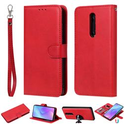Retro Greek Detachable Magnetic PU Leather Wallet Phone Case for Xiaomi Redmi K20 / K20 Pro - Red