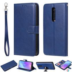 Retro Greek Detachable Magnetic PU Leather Wallet Phone Case for Xiaomi Redmi K20 / K20 Pro - Blue