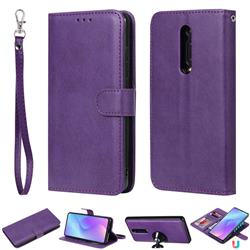 Retro Greek Detachable Magnetic PU Leather Wallet Phone Case for Xiaomi Redmi K20 / K20 Pro - Purple