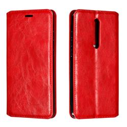Retro Slim Magnetic Crazy Horse PU Leather Wallet Case for Xiaomi Redmi K20 / K20 Pro - Red