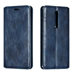Retro Slim Magnetic Crazy Horse PU Leather Wallet Case for Xiaomi Redmi K20 / K20 Pro - Blue