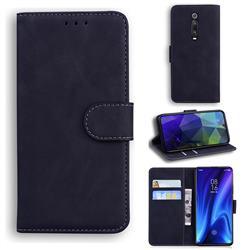 Retro Classic Skin Feel Leather Wallet Phone Case for Xiaomi Redmi K20 / K20 Pro - Black