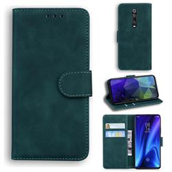 Retro Classic Skin Feel Leather Wallet Phone Case for Xiaomi Redmi K20 / K20 Pro - Green