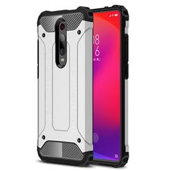 King Kong Armor Premium Shockproof Dual Layer Rugged Hard Cover for Xiaomi Redmi K20 Pro - White