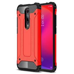 King Kong Armor Premium Shockproof Dual Layer Rugged Hard Cover for Xiaomi Redmi K20 Pro - Big Red