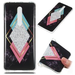 Black Diamond Soft TPU Marble Pattern Phone Case for Xiaomi Redmi K20 Pro
