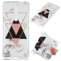 Inverted Triangle Black Soft TPU Marble Pattern Phone Case for Xiaomi Redmi K20 Pro